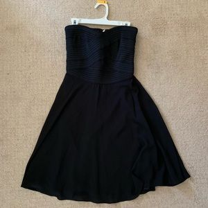Express Bodycon style black strapless dress